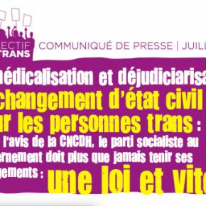 Démédicalisation et déjudiciarisation du changement d'état civil pour les personnes trans