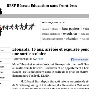 Le récit de l'expulsion de Léonarda, 15 ans, pendant une sortie scolaire