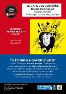Café des lumières 7 novembre 2014 - Utopies numeriques