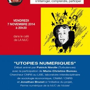 """Les """"Utopies numériques"""", en débat au Café des Lumières"""