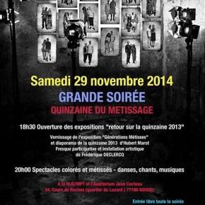 """Soirée """"Métissage"""", samedi 29 novembre, Noisiel"""