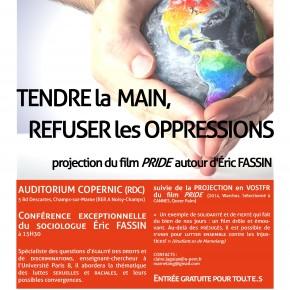 """""""Tendre la main, refuser les oppressions"""". Conférence d'Éric Fassin autour du film Pride"""