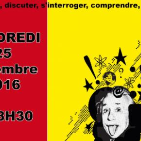 Café des Lumières, vendredi 25 novembre 18h30, MJC de Noisiel